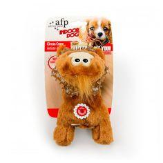 Brinquedos para Cachorros Filhotes Mordedor Macaco de Pelúcia Circus Crew Marrom Afp - MeuAmigoPet.com.br #petshop #cachorro #cão #meuamigopet