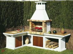 Amazing Outdoor Patio Barbecue Grill Ideas: Do you think that having a piece of BBQ stand in your house garden will bring a source of thrilling entertainment in the nightlife gatherings. Outdoor Oven, Outdoor Cooking, Masonry Bbq, Parrilla Exterior, Bbq Stand, Brick Bbq, Bbq Area, Outdoor Kitchen Design, Barbecue Grill