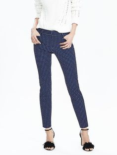 New Sloan-Fit Blue Print Slim Ankle Pant Product Image