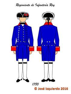 Regimiento de Infantería del Rey (Filipinas), 1780