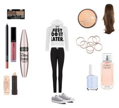 """Casual #8"" by kaylamirzai ❤ liked on Polyvore featuring Paige Denim, WearAll, Converse, NARS Cosmetics, Essie, Rimmel, Maybelline and Calvin Klein"