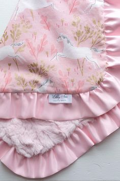 Looking for the perfect little blanket to help that special baby in your life feel loved and secure? You have found it! This unicorn blanket is just right for infancy through toddlerhood. Makes for the perfect baby shower gift! What I love most about this blanket are the