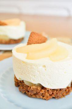 Mini cheesecake poires et spéculoos {sans cuisson} | Amandise | Les gourmandises d'Amandine