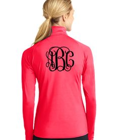 Monogrammed Pullover Jacket  Ladies Athletic by ShelbysBoutiques