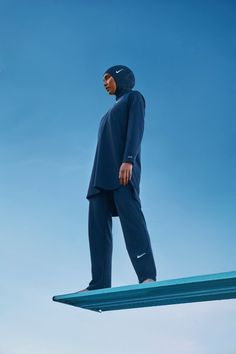 Why Nike's Victory Swimsuit Could Alter The Athletic Landscape For Muslim Women Muslim Fashion, Hijab Fashion, Modest Fashion, Nike Hijab, Nike Campaign, Full Body Swimsuit, Sports Hijab, Nike Pro Women, Modest Swimsuits