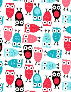 More owl fabric for party inspiration.