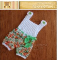 DESCARGA INMEDIATA - Crochet Pattern Shelly Romper / vestido - patrón bebé Shelly - pantalones de ganchillo con patrón de tirantes - patrón de ganchillo