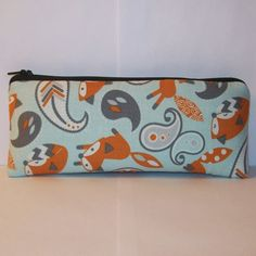 """Padded Pipe Pouch, Fox Pipe Bag, Paisley Pipe Case, Glass Pipe Cozy, Stoner Gift, Vape Pen Bag, Glass Chillum Bag, Cute Pouch - 7.5"""" LARGE by PouchAPalooza.com"""