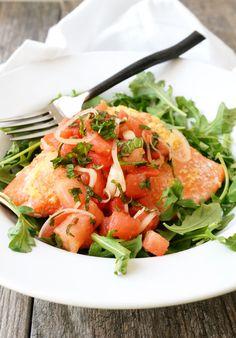 Ginger-Lime Salmon with Watermelon Mint Salsa - Autoimmune Paleo