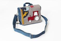 Kindergartentaschen - TRAKTOR: Jeans Kindergartenrucksack, Tasche, Name - ein Designerstück von baby-lal bei DaWanda