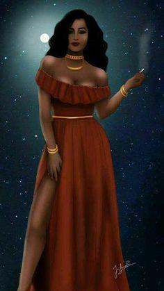 Entidades Ciganas da Umbanda (Clique Aqui) para entrar.: Pomba Gira Black Girl Art, Black Women Art, Black Art, Art Girl, African American Artist, African Art, Percy Jackson Tattoo, Covet Fashion, Fashion Design