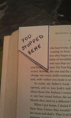 Day 3 - June 3, 2012 - envelope corner book page marker