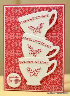 I used the Stampin' Up! Nice Cuppa Stamp Set and matching Cups & Kettle Framelits Dies to create this card. My video can be found here: https://youtu.be/PmqlazItUsY