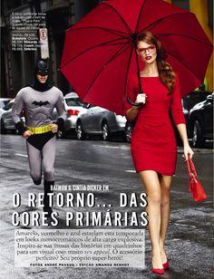 Cintia Dicker and her Batman, photo Andre Passos.