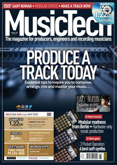 Music Tech is the world\'s most practical music recording and production magazine. Every issue is packed with hands-on features written by professional producers and engineers, software walkthroughs for all the key packages, Ten Minute Master guides to technologies and techniques, and the very latest product software news and reviews. Tech House Music, Music Challenge, Gary Numan, Music Software, School Of Engineering, Free Magazines, Recorder Music, Your Music, Master Class