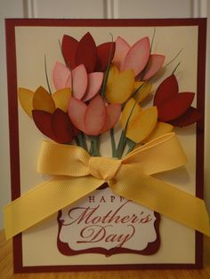 Stampin Up handmade tulips flower  mother's day / by treehouse05