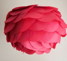 DIY - Paper Lanterns. Recover a white paper lantern with circles cut out of tissue paper.