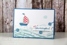 Stampin up - Birthday card, Geburtstagskarte, Swirly Bird, Thinlits Wunderbar verwickelt, Stempelset Geburtstagspuzzle - Fine Paper Arts