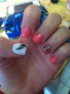 Simple Black Acrylic Nails Designs -