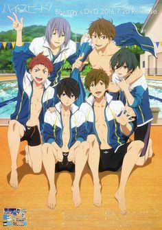 Shirtless Anime Boys, Rin Matsuoka, Makoto Tachibana, Makoharu, Nagisa, Free Eternal Summer, Splash Free, Free Iwatobi Swim Club, Kyoto Animation