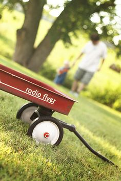 Old radio flyer wagon - the 80's might be the last era they were made with metal? I had one and it went everywhere with me.