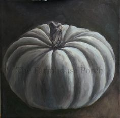 RESERVED Moonlit Pumpkin II Oil Painting by TheFarmhousePorch