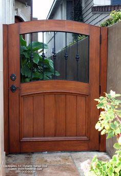 Handcrafted Wooden Architectural Pedestrain Gates   Mediterranean    Exterior   Los Angeles   By Dynamic Garage Door