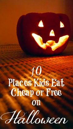 10 Places Kids Eat Cheap or Free on Halloween