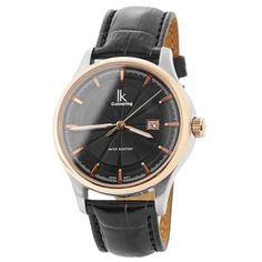 Buy IK Colouring - Black & Gold Edged Rolat Watch for only Shop at Trendhim and get returns. Black And Gold Watch, Black And Brown, Black Gold, Boys Watches, Color Dorado, En Stock, Stylish Watches, Black Stainless Steel, Beautiful Watches