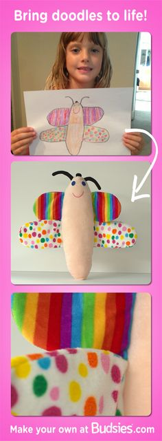 Have your kids draw something cute and then bring it to life. Coolest way to treasure their artwork