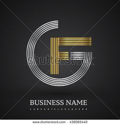 Letter GF or FG linked logo design circle G shape. Elegant silver and gold colored letter symbol. Vector logo design template elements for company identity. - stock vector