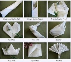 Diffe Ways To Fold Napkins More Ideas Are On The Site Fancy Napkin Folding