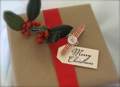 Christmas Gift Tag Clothespins -- Order online at artfire.com or make your own.
