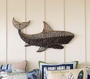 Shark/Ocean theme room? Love all the accesories at Pottery Barn kids!
