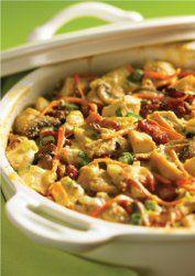 Simple Chicken and Artichoke Casserole   RecipeLion.com