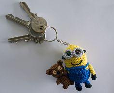 Ravelry: Crocheted Minion Bob keychain pattern by Caits CrochetedDolls