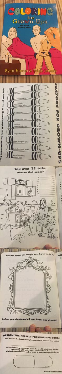 Funny lol -- Coloring For Grown-Ups, The Activity Book Daily Funny jokes Funny Quotes, Funny Memes, Hilarious, Jokes, Minions, Lol, Totally Me, Laughing So Hard, Book Activities