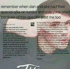 I made friends through dan and Phil's videos and love them for that
