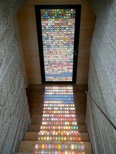 Lindo reflexo na escada!