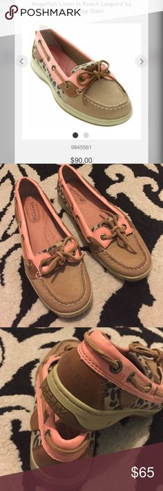 Sperry Top - Sider flats Great condition! Very cute- light pink with leopard print. Sperry Top-Sider Shoes Flats & Loafers