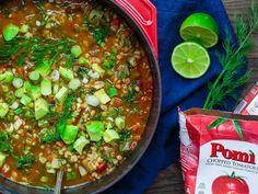 Chunky Vegetable Barley Soup | Pomi USA