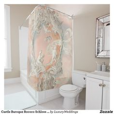 Castle Baroque Rococo Schloss Augustusburg Vintage Shower Curtain