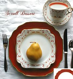 Mottahedeh Scroll Dessert Service: THE RE-INTRODUCTION OF