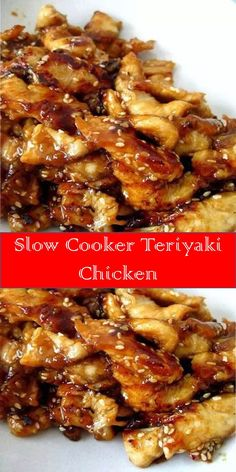 Your family's favorite food and drink ! Slow Cooker Teriyaki Chicken Serve this Slow Cooker Teriyaki Chicken over rice, you don't want any of that delicious, sticky sauce going to waste. and Drink slow cooker Crockpot Dishes, Crock Pot Slow Cooker, Crock Pot Cooking, Slow Cooker Chicken, Slow Cooker Recipes, Crockpot Recipes, Chicken Recipes, Cooking Recipes, Healthy Recipes