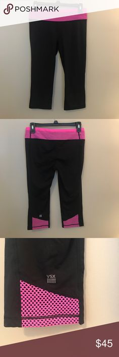 Victoria's Secret Workout Capris Like new condition!! Only been worn a handful of times. Super cute! Victoria's Secret Pants Capris