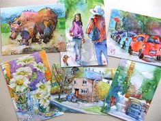 Nora MacPhail - Artist  postcards Moo.com