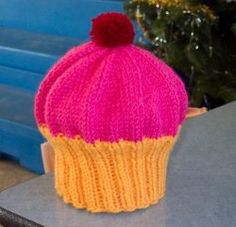Knitted Cupcake Hat Pattern All Knitted Up The Republic Hat Cupcake Hat Momadvice. Knitted Cupcake Hat Pattern Cute Little Hat For My Nephew Caron Cup. Knitting For Kids, Easy Knitting, Loom Knitting, Knitting Patterns Free, Knitting Projects, Crochet Patterns, Free Pattern, Knitting Tutorials, Hat Patterns