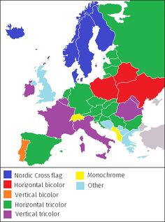 Map of europe with france highlighted in red france pinterest european countries by flag similarity gumiabroncs Images