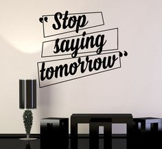 Vinyl Wall Decal Motivation Quotes Office Home Inspiration Stickers (ig4197)