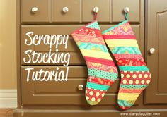 Diary of a Quilter - a quilt blog: Christmas Stocking Tutorial